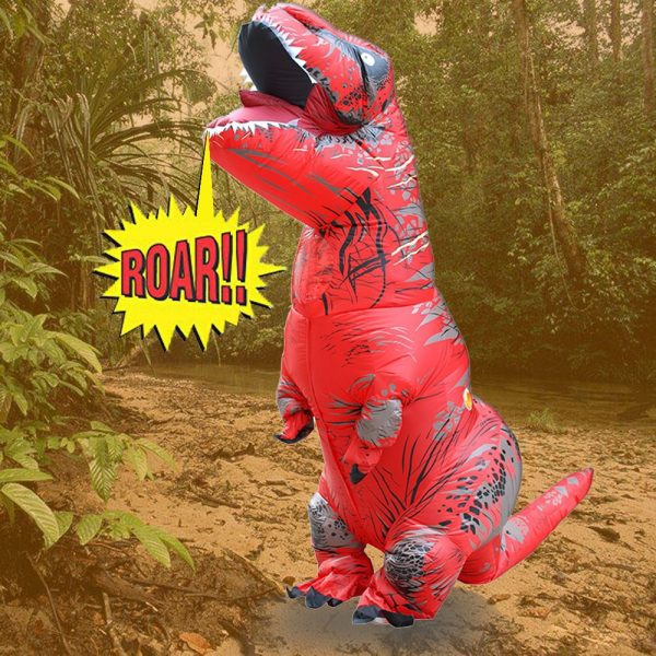 Inflable T-Rex dinosaurio  traje de fiesta juguetes al aire libre juego educativos niños 2