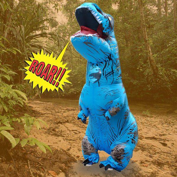 Inflable T-Rex dinosaurio  traje de fiesta juguetes al aire libre juego educativos niños 3