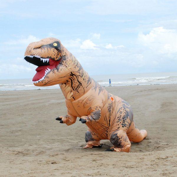 Inflable T-Rex dinosaurio  traje de fiesta juguetes al aire libre juego educativos niños 5