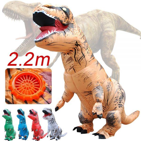 Inflable T-Rex dinosaurio  traje de fiesta juguetes al aire libre juego educativos niños 6