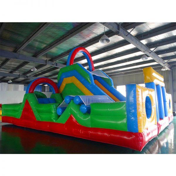 Inflable Gigante con deslizador y Obstaculos 3