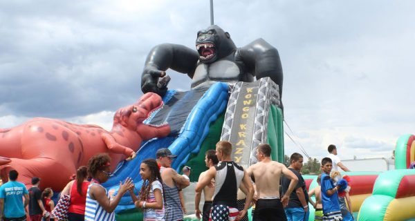 Tobogan inflable T-Rex vs King Kong 2