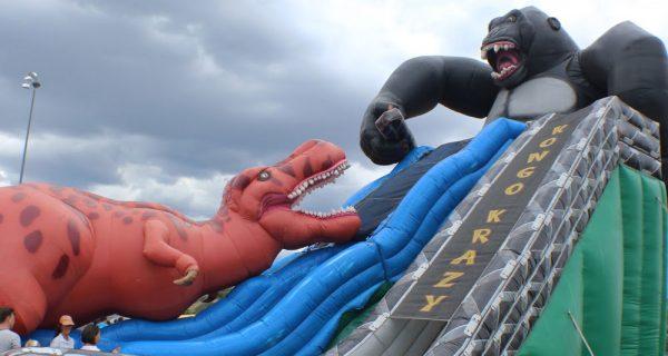 Tobogan inflable T-Rex vs King Kong 3