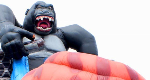 Tobogan inflable T-Rex vs King Kong 4