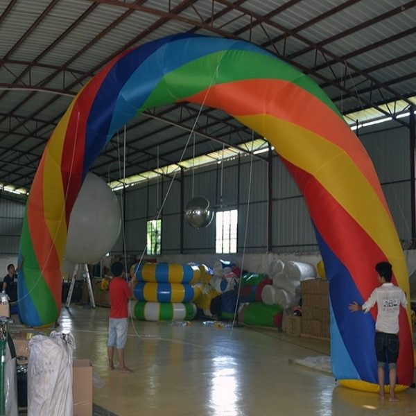 Arco Inflable para publicidad con el ventilador 6