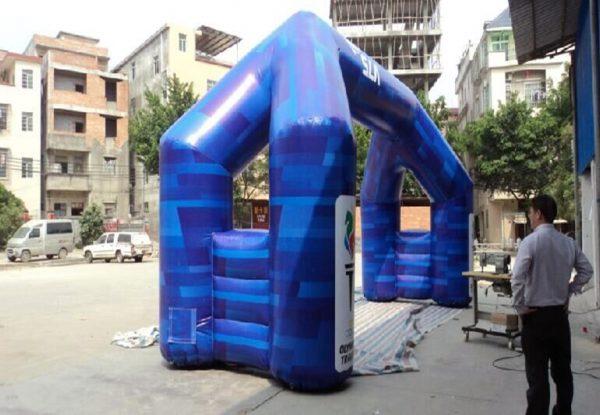 Arco Inflable para publicidad con el ventilador 7
