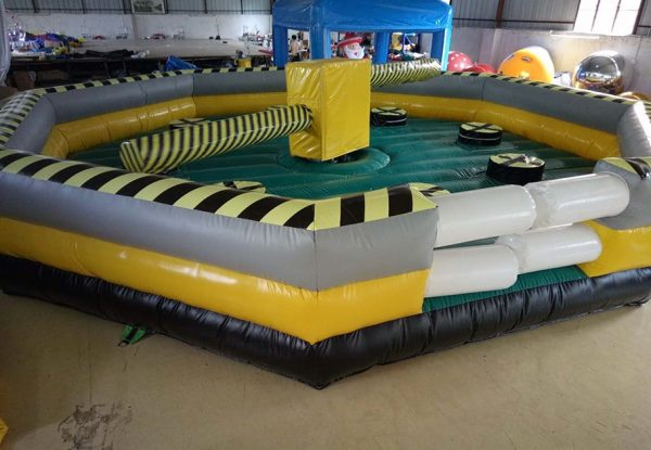 Juego de Barrido con pista inflable o cama elástica trampolín 2