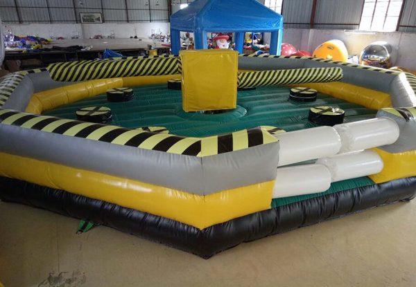 Juego de Barrido con pista inflable o cama elástica trampolín 3