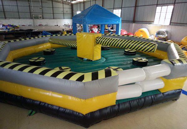 Juego de Barrido con pista inflable o cama elástica trampolín 4