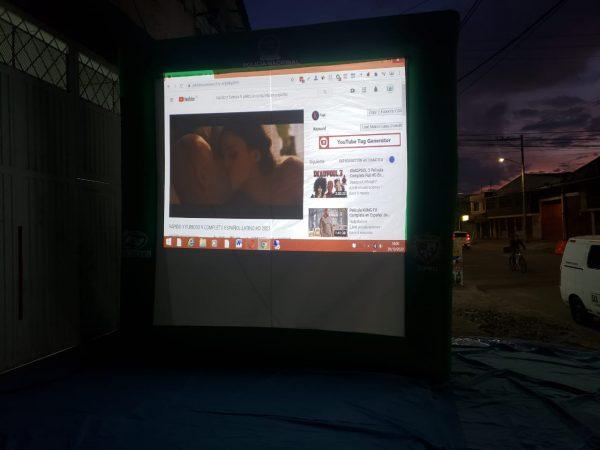 pantalla inflable 3mt x 3mt