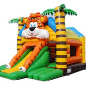 castillo inflable tigre