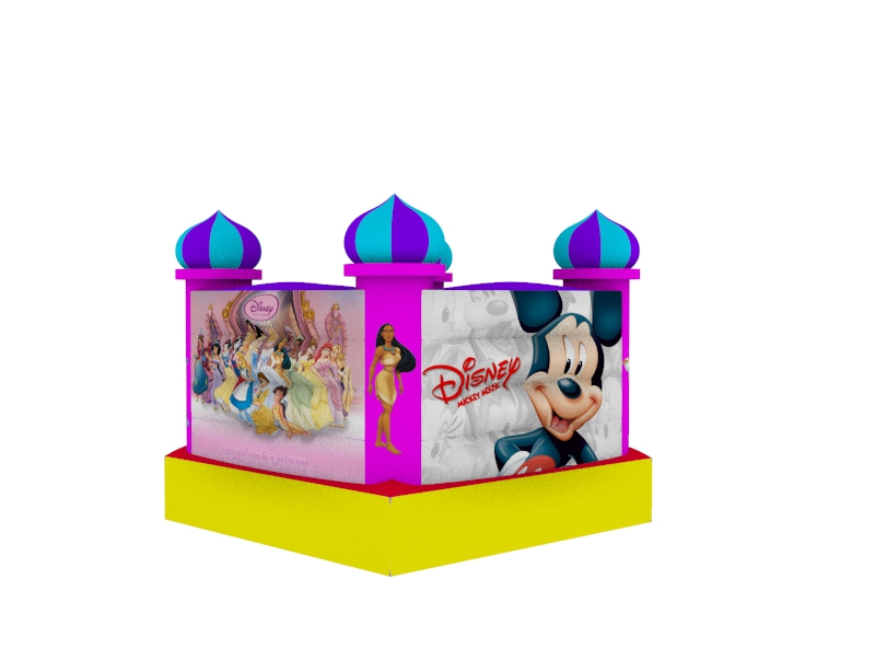 castillo inflable de princesas disney