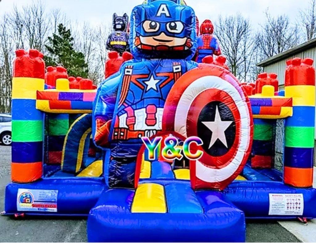 Castillo inflable saltarín Lego