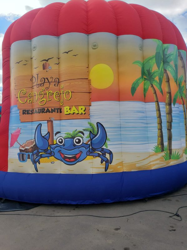 inflable playa cangrejo bar